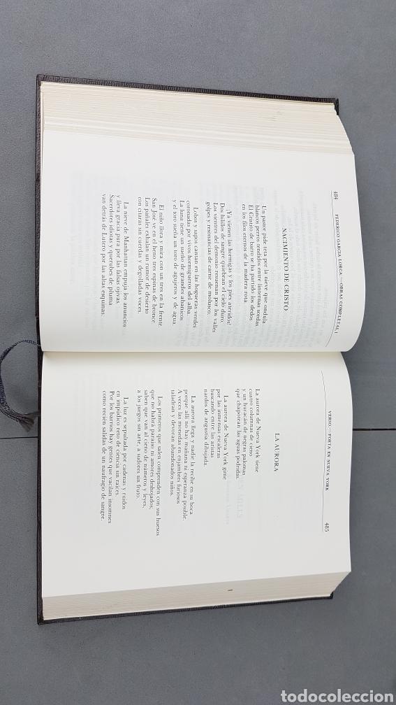 Libros de segunda mano: FEDERICO GARCIA LORCA. OBRAS COMPLETAS EN DOS TOMOS. EDICIONES AGUILAR. - Foto 6 - 277115568