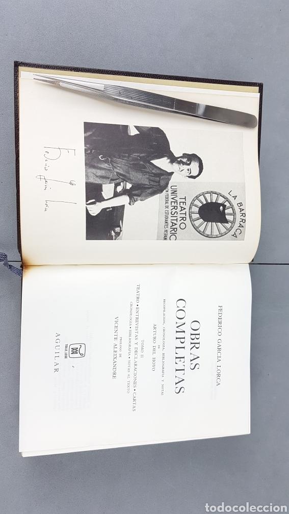 Libros de segunda mano: FEDERICO GARCIA LORCA. OBRAS COMPLETAS EN DOS TOMOS. EDICIONES AGUILAR. - Foto 7 - 277115568