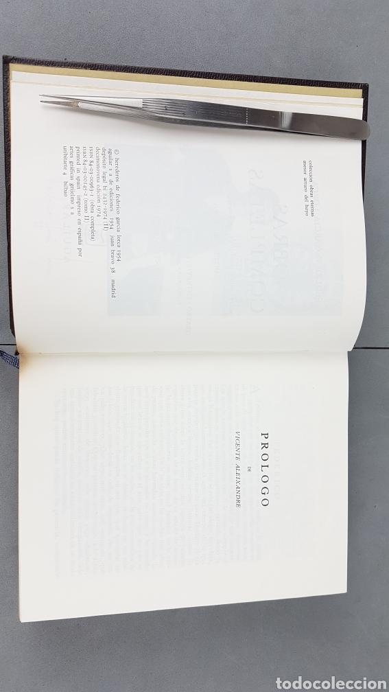 Libros de segunda mano: FEDERICO GARCIA LORCA. OBRAS COMPLETAS EN DOS TOMOS. EDICIONES AGUILAR. - Foto 8 - 277115568