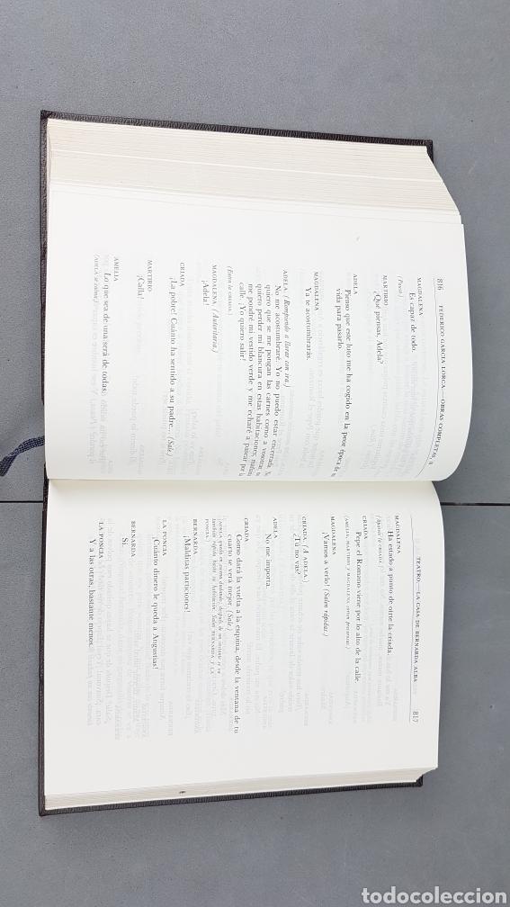 Libros de segunda mano: FEDERICO GARCIA LORCA. OBRAS COMPLETAS EN DOS TOMOS. EDICIONES AGUILAR. - Foto 10 - 277115568