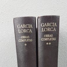 Libros de segunda mano: FEDERICO GARCIA LORCA. OBRAS COMPLETAS EN DOS TOMOS. EDICIONES AGUILAR.. Lote 277115568