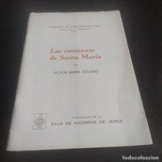 Libros de segunda mano: LAS CAMPANAS DE SANTA MARIA. VICTOR MARIN SOLANO. Nº 1º. 1973. CAJA DE AHORROS DE JEREZ. 37 PAGS.. Lote 277124768