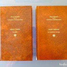 Libros de segunda mano: LA PESTE, ALBERT CAMUS + LA CONDICIÓN HUMANA, ANDRÉ MALRAUX. SEIX BARRAL. TAPA DURA,. Lote 277534203