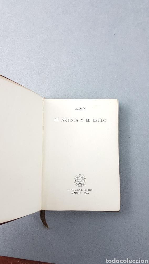 Libros de segunda mano: AZORÍN. EL ARTISTA Y EL ESTILO. AGUILAR. COLECCIÓN CRISOL NUMERO 191. PRIMERA EDICIÓN - Foto 3 - 277843673