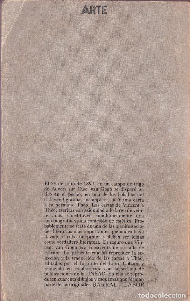 Libros de segunda mano: CARTAS A THEO - VINCENT VAN GOGH - SEIX BARRAL, LABOR 1981 - Foto 2 - 278324968