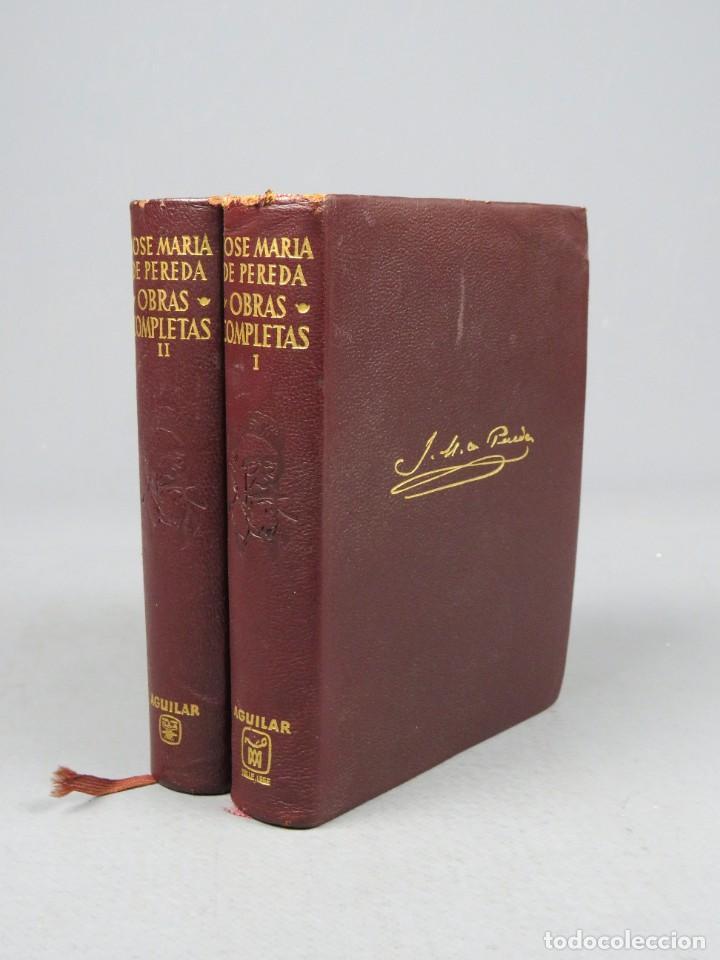 JOSÉ MARÍA DE PEREDA OBRAS COMPLETAS - II TOMOS - AGUILAR 1964 (Libros de Segunda Mano (posteriores a 1936) - Literatura - Narrativa - Otros)