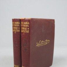 Libros de segunda mano: JOSÉ MARÍA DE PEREDA OBRAS COMPLETAS - II TOMOS - AGUILAR 1964. Lote 278325058