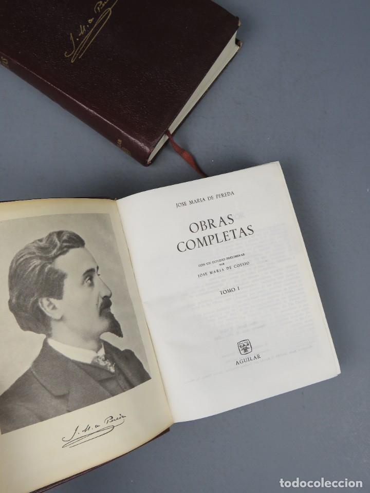 Libros de segunda mano: JOSÉ MARÍA DE PEREDA OBRAS COMPLETAS - II TOMOS - AGUILAR 1964 - Foto 4 - 278325058