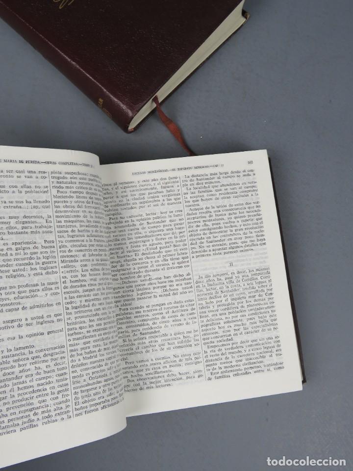 Libros de segunda mano: JOSÉ MARÍA DE PEREDA OBRAS COMPLETAS - II TOMOS - AGUILAR 1964 - Foto 5 - 278325058