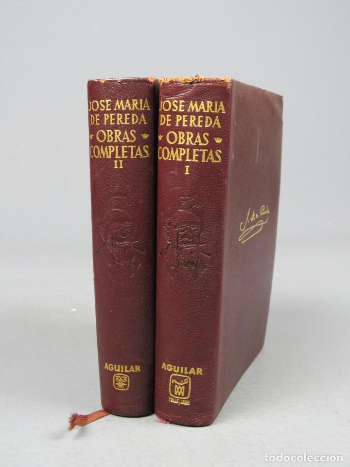 Libros de segunda mano: JOSÉ MARÍA DE PEREDA OBRAS COMPLETAS - II TOMOS - AGUILAR 1964 - Foto 6 - 278325058