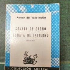 Libros de segunda mano: SONATA DE OTOÑO, SONATA DE INVIERNO. RAMÓN DEL VALLE INCLÁN.. Lote 278456618