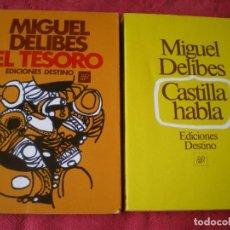 Livres d'occasion: EL TESORO. CASTILLA HABLA. MIGUEL DELIBES. 2 TOMOS. ÁNCORA Y DELFÍN. EDICIONES DESTINO.. Lote 278484513