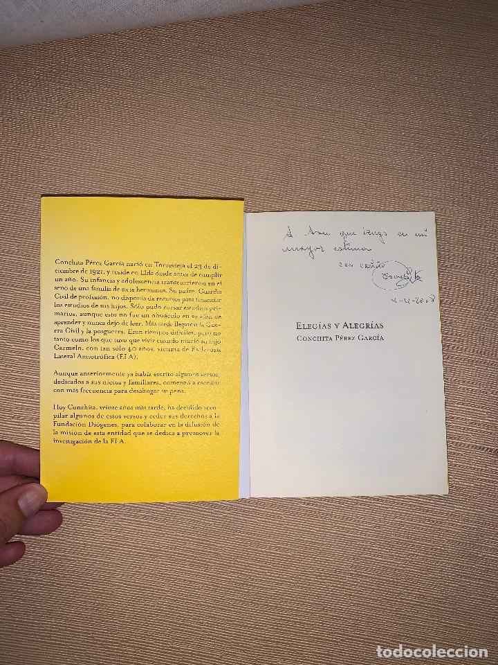 Libros de segunda mano: Elegías y alegrías de Conchita Pérez García. Fundación Diógenes. Elda (Alicante) - Foto 2 - 278641868