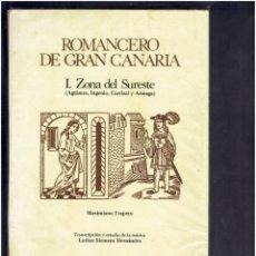 Libros de segunda mano: ROMANCERO DE GRAN CANARIA I ZONA SUROESTE MAXIMILIANO TRAPERO LAS PLAMAS DE GRAN CANARIAS 1982. Lote 278762923