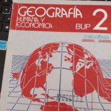 Libros de segunda mano: GEOGRAFÍA HUMANA Y ECONÓMICA LIBRO DE TEXTO 1º DE BUP. Lote 278763058