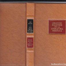 Libros de segunda mano: JOSÉ CADALSO: NOCHES LÚGUBRES. LOS ERUDITOS A LA VIOLETA. Lote 279521158