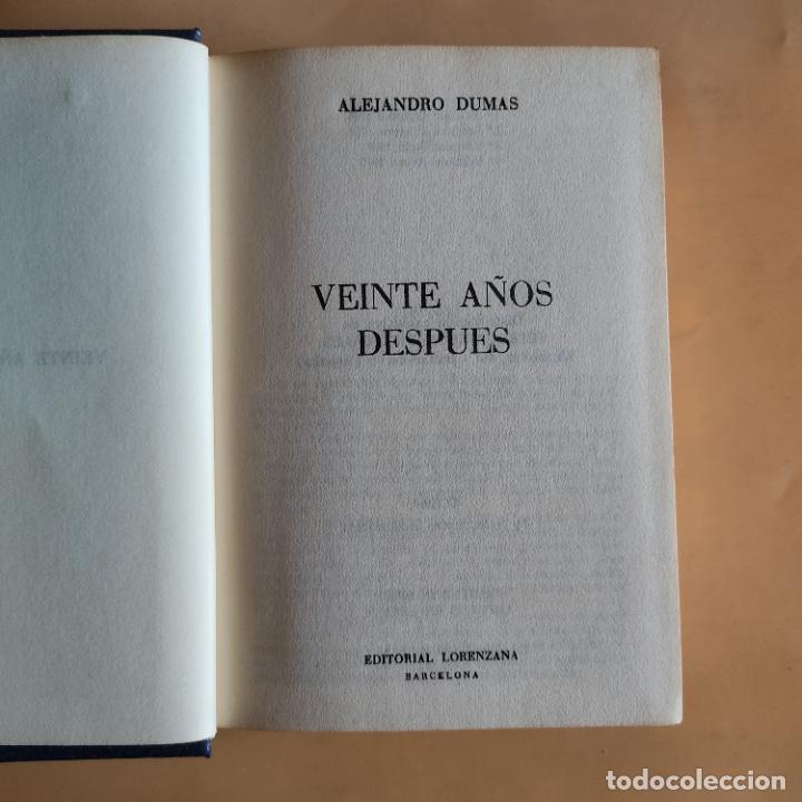 Libros de segunda mano: VEINTE AÑOS DESPUES. ALEJANDRO DUMAS.1969. EDITORIAL LORENZANA. 960 PAGS. - Foto 3 - 283484033
