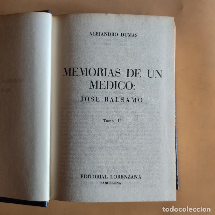Libros de segunda mano: MEMORIAS DE UN MEDICO. ALEJANDRO DUMAS.1969. EDITORIAL LORENZANA. 754 PAGS. - Foto 3 - 283484128