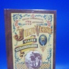 Libros de segunda mano: JULIO VERNE. VIAJES EXTRAORDINARIOS. ROBUR EL CONQUISTADOR. 175 ANIVERSARIO. NUEVO PRECINTADO.. Lote 284106023