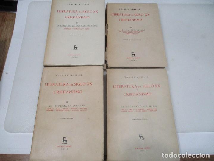 Libros de segunda mano: CHARLES MOELLER Literatura del siglo XX y cristianismo (4 tomos) W8888 - Foto 2 - 285107113