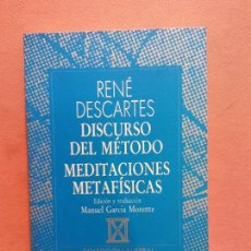 Libri di seconda mano: DISCURSO DEL MÉTODO. MEDITACIONES METAFÍSICAS. RENÉ DESCARTES. EDITORIAL ESPASA CALPE. Lote 286486743