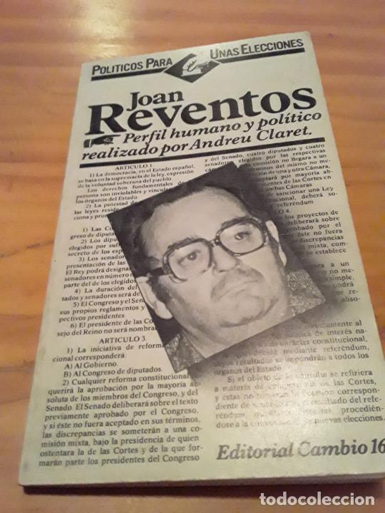 JOAN REVENTOS.ANDREU CLARET.EDITORIAL CAMBIO 16.1977.112 PAGINAS. (Libros de Segunda Mano (posteriores a 1936) - Literatura - Narrativa - Otros)
