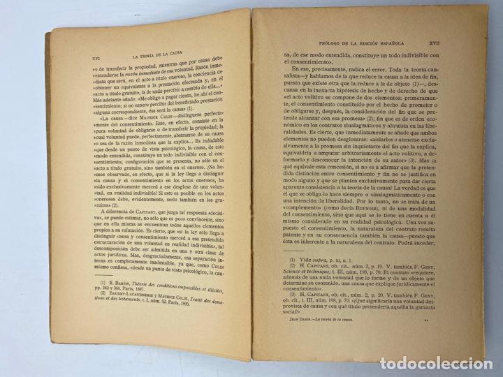Libros de segunda mano: LA TEORIA DE LA CAUSA. J.DABIN. MADRID, 1929. PAGS: 390. - Foto 3 - 286635683