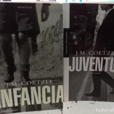 Livros em segunda mão: LOTE 2 LIBROS!! INFANCIA / JUVENTUD - COETZEE, J.M.. Lote 286883888