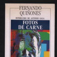 Libros de segunda mano: FERNANDO QUIÑONES FOTOS DE CARNE ED SILEX 1990 1ª EDICIÓN BORGES PICASSO CORTÁZAR VIOLA VÁZQUEZ DÍAZ. Lote 287023468