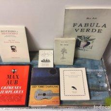 Libros de segunda mano: ESPECTACULAR LOTE DE 7 LIBROS DEL ESCRITOR MAX AUB (4 SON FACSÍMILES) - VER FOTOS. Lote 287469183