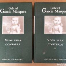 Libros de segunda mano: VIVIR PARA CONTARLA I Y II. GABRIEL GARCÍA MÁRQUEZ. RBA EDITORES. LIBRO LIBROS. Lote 288040893