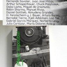 Libros de segunda mano: MEJOR IMPOSIBLE 1 LIBRO - ALMUDENA GRANDES JUAN JOSÉ MILLÁS MANUEL RIVAS GARCÍA MÁRQUEZ SAVATER ETC. Lote 288216133