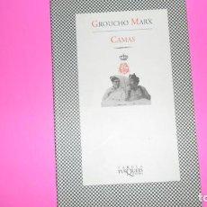 Libros de segunda mano: CAMAS, GROUCHO MARX, ED. TUSQUETS, TAPA BLANDA. Lote 288506708