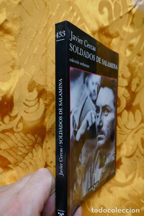 Libros de segunda mano: Soldados de Salamina, Javier Cercas. Colección Andanzas Tusquets - Foto 2 - 288549498