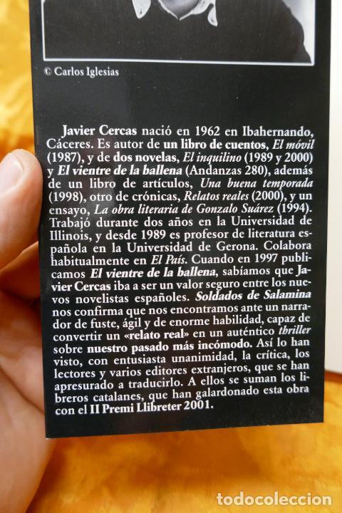 Libros de segunda mano: Soldados de Salamina, Javier Cercas. Colección Andanzas Tusquets - Foto 4 - 288549498