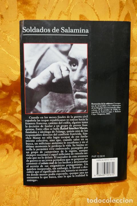 Libros de segunda mano: Soldados de Salamina, Javier Cercas. Colección Andanzas Tusquets - Foto 9 - 288549498