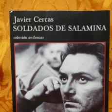 Libros de segunda mano: SOLDADOS DE SALAMINA, JAVIER CERCAS. COLECCIÓN ANDANZAS TUSQUETS. Lote 288549498