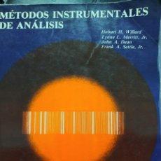 Libros de segunda mano: MÉTODOS INSTRUMENTALES DE ANÁLISIS VARIOS AUTORES. Lote 288554583