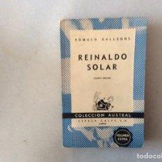 Libros de segunda mano: REINALDO SOLAR. RÓMULO GALLEGOS. Lote 288926948