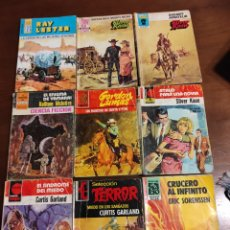 Libros de segunda mano: CONJUNTO DE 18 NOVELAS DE BOLSILLO DE ESTEFANÍA CIENCIA FICCIÓN TERROR ETCÉTERA VER LAS 2 IMÁGENES. Lote 289418828