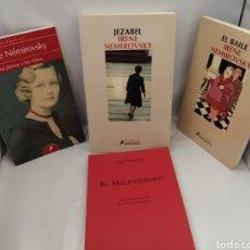 Libros de segunda mano: PACK 4 NOVELAS DE IRENE NEMIROVSKY: EL BAILE / LOS PERROS Y LOS LOBOS / JEZABEL / EL MALENTENDIDO. Lote 289403048