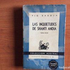Libros de segunda mano: LAS INQUIETUDES DE SHANTI ANDÍA. PÍO BAROJA. Lote 289518433