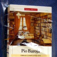 Libros de segunda mano: PIO BAROJA-OBRAS COMPLETAS (VOL. XVI)-OBRA DISPERSA Y EPISTOLARIO-EDITORIAL GALAXIA GUTENBERG. Lote 289526258