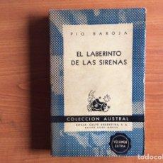 Libros de segunda mano: EN LABERINTO DE LAS SIRENAS. PÍO BAROJA. Lote 289538543