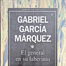 Libros de segunda mano: EL GENERAL EN SU LABERINTO, GABRIEL GARCÍA MÁRQUEZ - COLECCIÓN AUTORES DE LENGUA ESPAÑOLA Nº1 - 1993. Lote 289923233