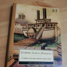 Libros de segunda mano: CRÓNICA DE UNA MUERTE ANUNCIADA (GABRIEL GARCÍA MÁRQUEZ). Lote 293842968