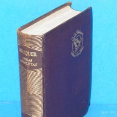 Libros de segunda mano: OBRAS COMPLETAS.- GUSTAVO ADOLFO BECQUER (AGUILAR. 1954). Lote 294439658