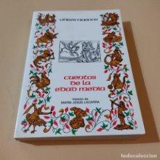 Libros de segunda mano: CUENTOS DE LA EDAD MEDIA. MARIA JESUS LACARRA. 1986. EDITORIAL CASTALIA. 349 PAGS.. Lote 294978273