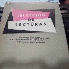 Libros de segunda mano: SELECCIÓN DE LECTURAS. CARACAS VENEZUELA. 1958.. Lote 295525628