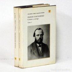 Libros de segunda mano: DOSTOIEVSKI (FIODOR) [DOSTOYEVSKI].- CRIMEN Y CASTIGO. MOSCÚ, EDITORIAL PROGRESO, 1977. [EN 2 TOMOS]. Lote 295632118